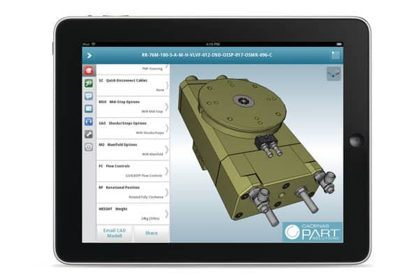 3d cad models mobile app by cadenas partsolutions gets