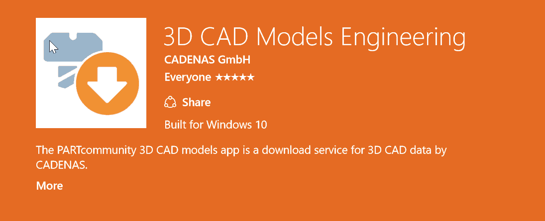 First 3D CAD model app for Windows 10 is now available
