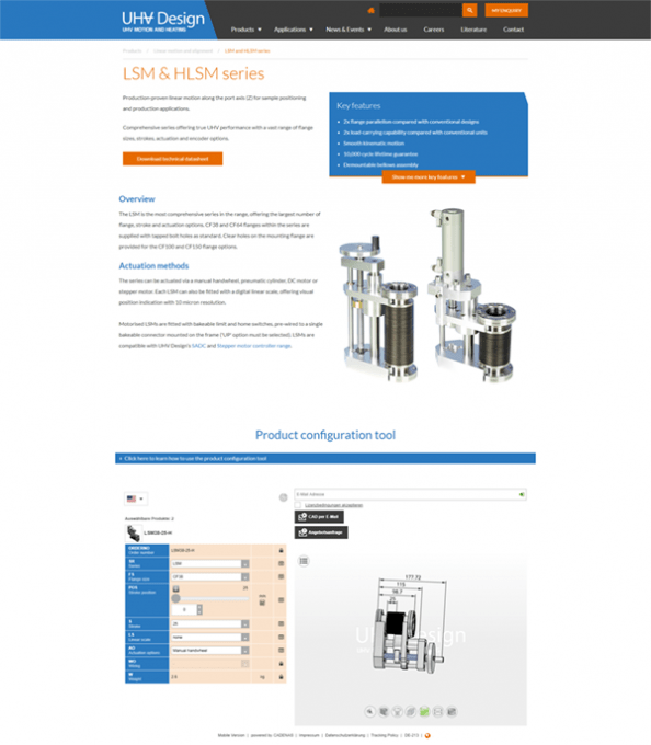 UHV Design Customers Download CAD Models - Fast, Accurate