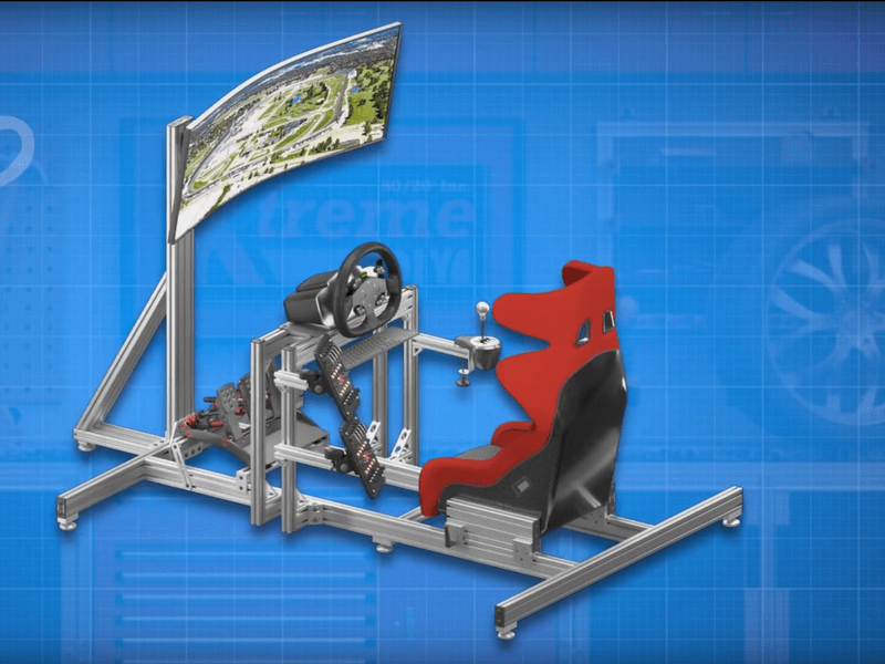 Extreme DIY Engineering: Build Your Own Custom Racing Simulator Rig from 80/20 Inc.